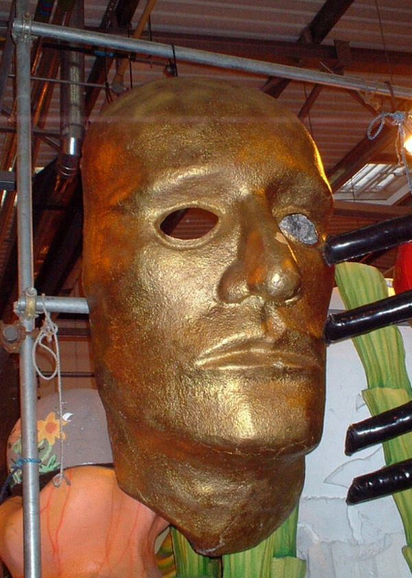 Large gold face